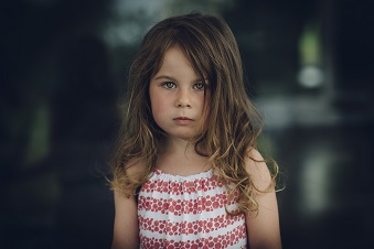Cute solitary little girl
